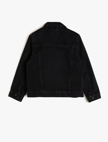 Koton Kids Jean Ceket Siyah